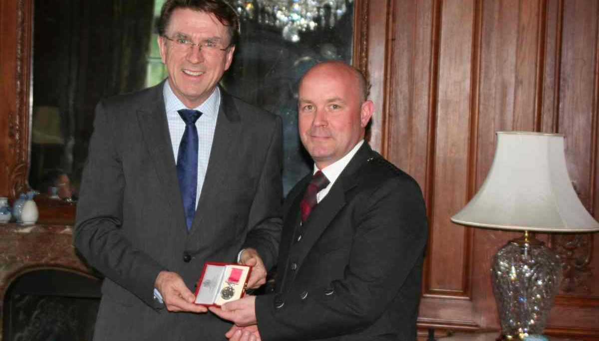 Receiving the BEM at the Residence of the UK Ambassador to Hungary