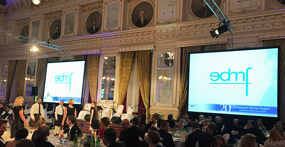 EDMF Language Services Kft. supports the Budapest Burns Supper